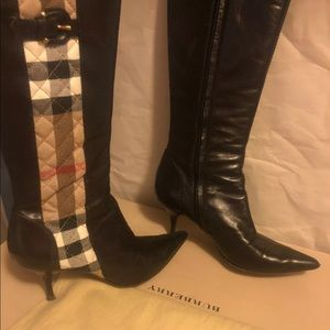 Sexy Leather Burberry Fitted leather Boots $1200